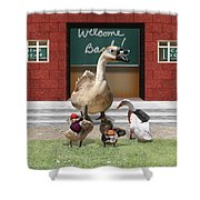 Back To School Time Shower Curtain