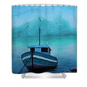 Back To Shore Shower Curtain