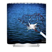Back To The Bay Blue Crab Shower Curtain