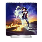 Back To The Future 1985 Shower Curtain