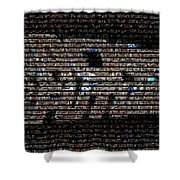 Back To The Future Mosaic Shower Curtain