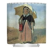 Back To The Holy Trinity 1870 Q D 25h19 Pm 7 Tg Vasily Perov Shower Curtain