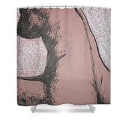 Back Torso Shower Curtain