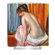 Back View Of A Bather 1893 Shower Curtain