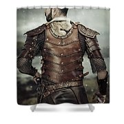 Back View Of Viking Costume Shower Curtain