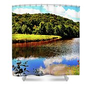 Backbone State Park - Dundee, Ia Shower Curtain