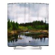 Backcountry Lake - Adirondacks Shower Curtain