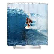 Backdoor Pipe Shower Curtain