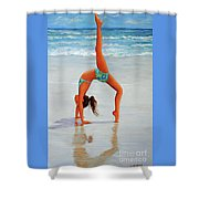 Backflip At The Beach Shower Curtain