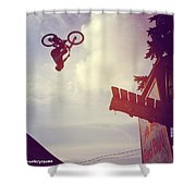 Backflip Descent Shower Curtain