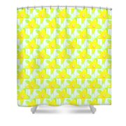 Background Choice Daffodils Shower Curtain