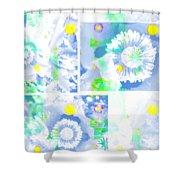 Colour Choice Poppy Collage Shower Curtain