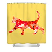 Background Colour Choice Cat Shower Curtain