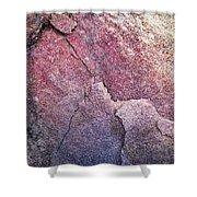 Background Dark Detail Block Of Stone Shower Curtain