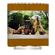 Backhoe And Loader 12118 Shower Curtain