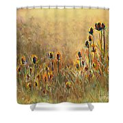 Backlit Thistle Shower Curtain