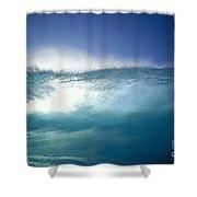 Backlit Wave Shower Curtain