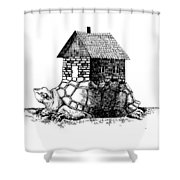 Backpack-house Shower Curtain