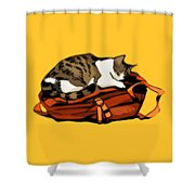 Backpack Nap Shower Curtain