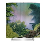 Backwoods Mist Shower Curtain