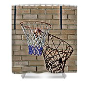Backyard Basketball Shower Curtain