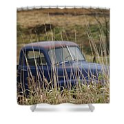 Backyard Blues Shower Curtain
