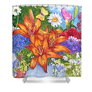 Backyard Bouquet Shower Curtain