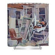 Country Shed Shower Curtain