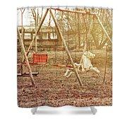 Backyard Play Shower Curtain