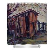Backyard Shed Shower Curtain