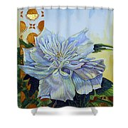 Backyard Splendor Shower Curtain