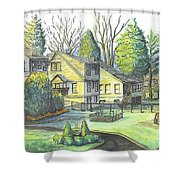 Hometown Backyard View Shower Curtain