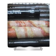 Bacon Wrapped Hot Dogs Shower Curtain