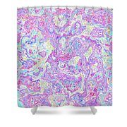 Bacteries Violets Shower Curtain