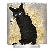 Bad Cat Halloween Shower Curtain