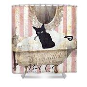 Bad Cat I Shower Curtain