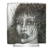 Bad Glance Shower Curtain
