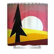 Bad Moon Rising Shower Curtain