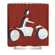 Bad Motor Scooter Shower Curtain
