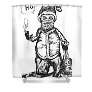 Bad Santa Shower Curtain