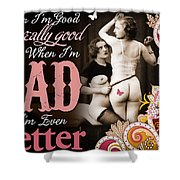Bad Seven Shower Curtain