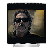Badass Man In Sunglasses Stares Into The Unknown Shower Curtain