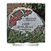 Badger Rose Bowl Win 1999 Shower Curtain