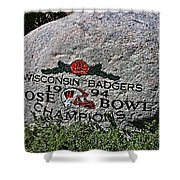 Badgers Rose Bowl Win 1994 Shower Curtain