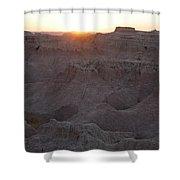 Badlands At Sunup Shower Curtain