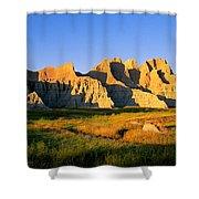 Badlands Buttes, South Dakota Shower Curtain