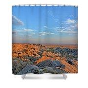 Badlands Evening Shower Curtain
