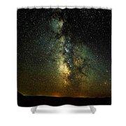 Badlands Milky Way Shower Curtain