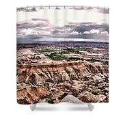 Badlands Panorama Shower Curtain