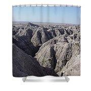 Badlands S.dakota Landscape  Shower Curtain